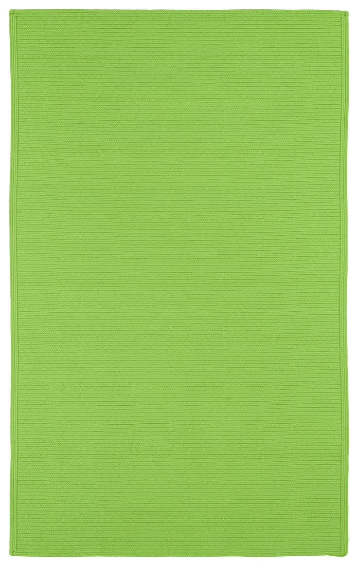 Textured in a bright and bold color- this woven product is suitable for indoor or outdoor use!  I Shop Rug & Home I #green #indooroutdoor #braided