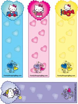 printable hello kitty bookmark/  several different ones