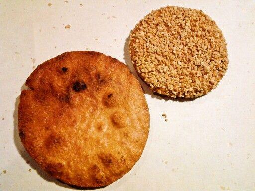 田倉屋 炭火手焼き煎餅とピーナッツ煎餅