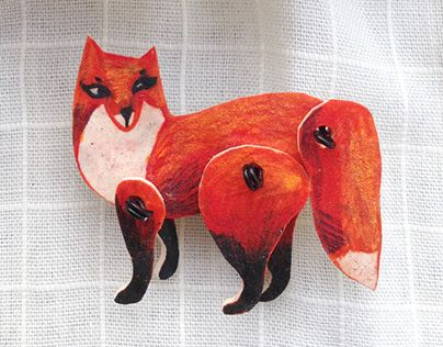 "Check out new work on my @Behance portfolio: ""Brooch Fox"" http://be.net/gallery/31581755/Brooch-Fox"