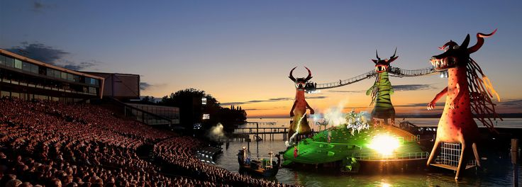 Discover the floating opera stage in Bregenz, Vorarlberg and be part of the famous Bregenz Festival © Bregenzer Festspiele/andereart #feelaustria