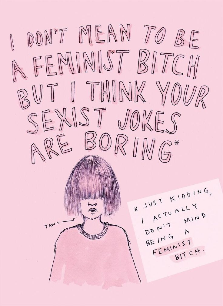 "Summing up her work as ""feminist rants, questionable advice and <i>too much pink</i>"" the illustrations aim to represent the contradictions felt by many feminists who like to surround themselves with pastel, pretty things."