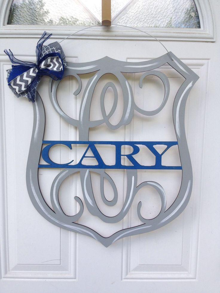 A personal favorite from my Etsy shop https://www.etsy.com/listing/277826552/police-door-hanger-policeman-door-hanger