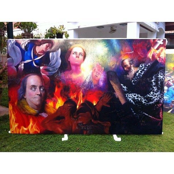A R T I N T H E S U I T E - 6ft x 4ft Oil on canvas.