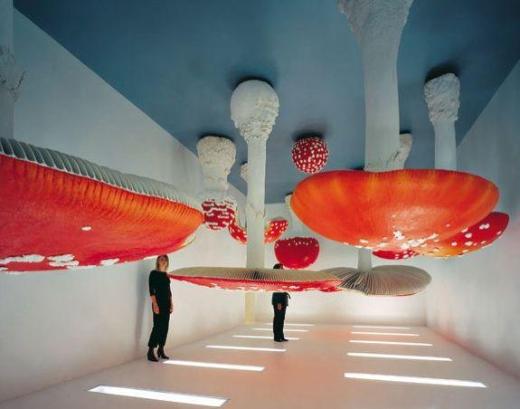 Giant Mushroom Upside Down Sculptures by Carsten Holler - My Modern Met