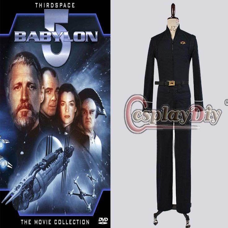 Adult Babylon 5 Black Uniform Jacket Pants Suit Outfit Cosplay Costume
