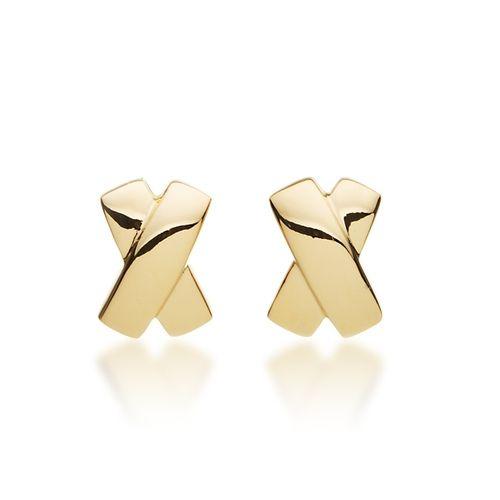 Designer Cross Earrings in Gold