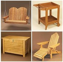 217 Free DIY Outdoor Furniture Project Plans – Download any of hundreds of great plans for wooden furnishings for your porch, poolside, patio, deck or garden. (Guaranteed to keep me busy!)