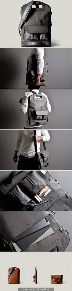 Good grief, this bag is amazing! - 2Unfold Laptop Bag - by Hard Graft. | About $800 USD. Well done @hardgraft
