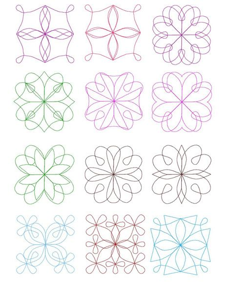 Free Motion Quilting Patterns For Blocks : 17 Best images about embroidery quilt blocks on Pinterest Machine embroidery designs, Machine ...