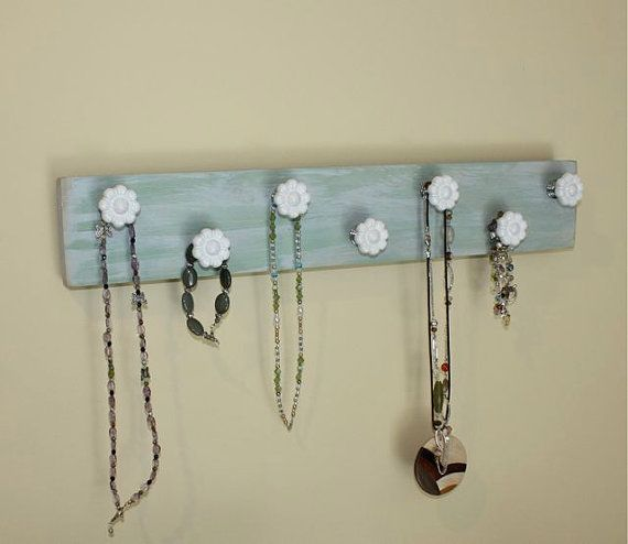 Repurposed Hanger with Daisy Knobs Organizer for by onthewallusa, $20.00