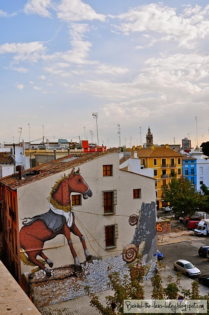 Horse and Snails Street Art - Valencia