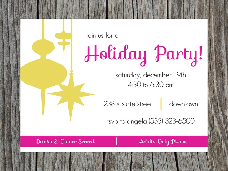 Printable Invitations Christmas Party