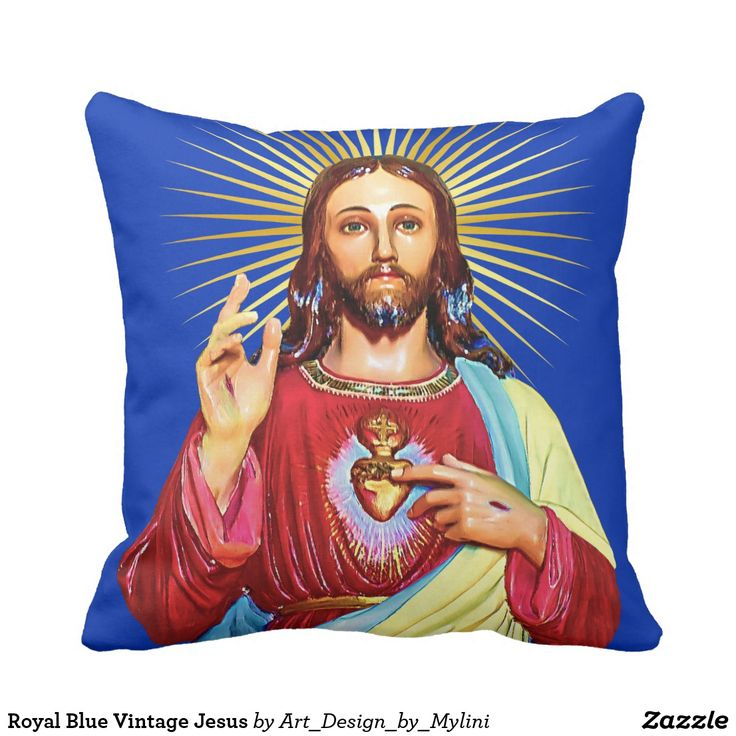 Royal Blue Vintage Jesus