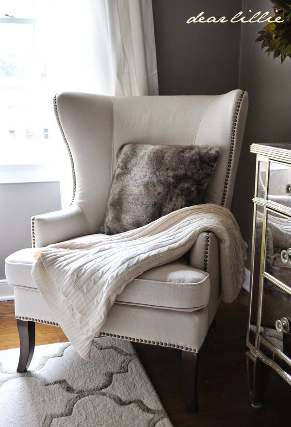Wingback chair Fall Home Tour via Dear Lillie featuring Cost Plus World  Market s Gray Faux Fur Throw Pillow   Living Room Decor  Home Decor  TipsBest 25  Accent chairs ideas on Pinterest   Chairs for living room  . Modern Living Room Accent Chairs. Home Design Ideas