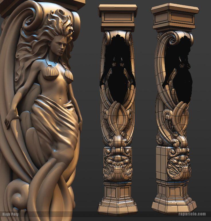 Siren Pillar, Raul Aparicio on ArtStation at https://www.artstation.com/artwork/siren-pillar