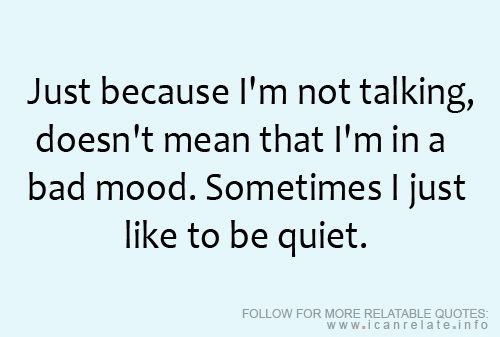 Sometimes I just like to be quiet. #introvert #HSP #serenity