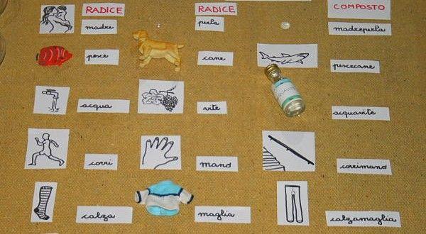 Parole composte col metodo Montessori | Lapappadolce