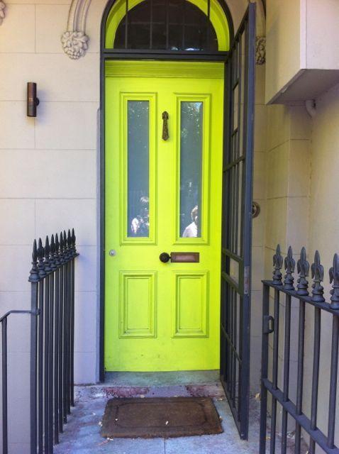 Lime Green Door...