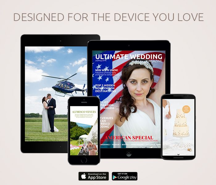 The only fully interactive #wedding magazine available on your iOS or Android device. Download for free! http://bit.ly/uwmjulaug2015 #engaged #magazine #digital