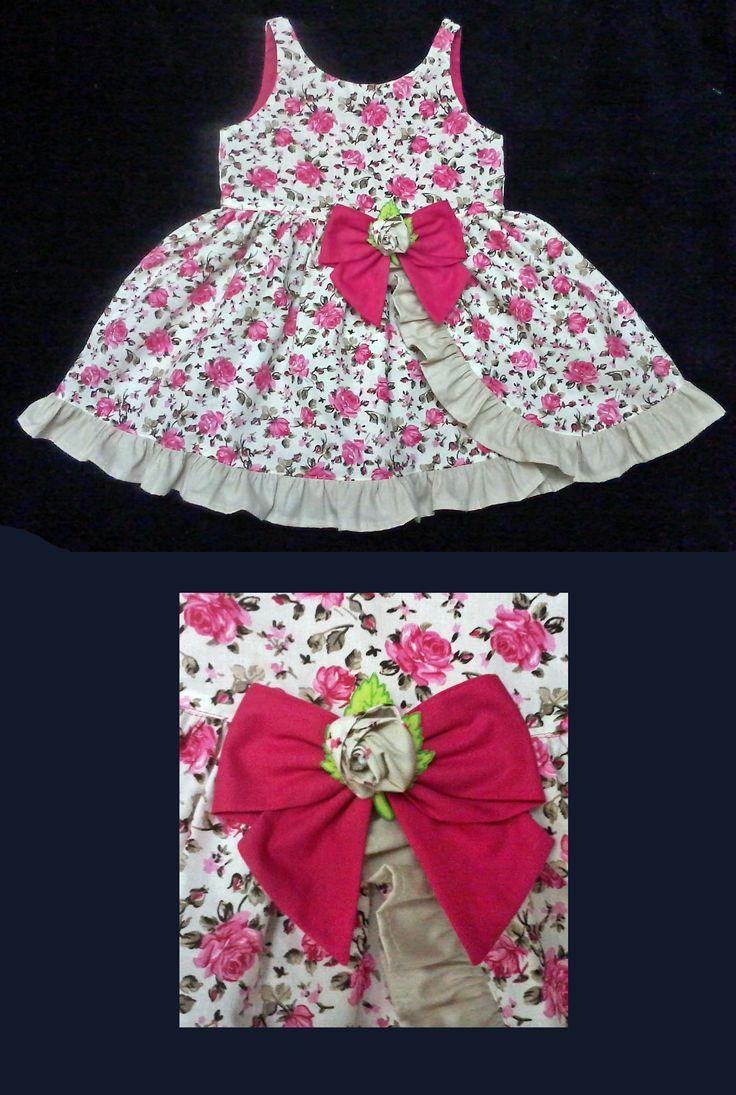 Vestido Floral Pink - 3 anos - Pink Floral Dress - 3 years - Molde Grátis no Facebook - Free Pattern in Facebook. . . . . . . . . https://www.facebook.com/groups/1594730384185604/ . . . . . . . . . . . . . . . . . .baby - infant - toddler - kids - clothes for girls - Moldes Gratuitos - Free Patterns