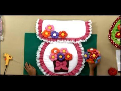 Sonia Franco. Juego de baños con flores. 1/5 - YouTube