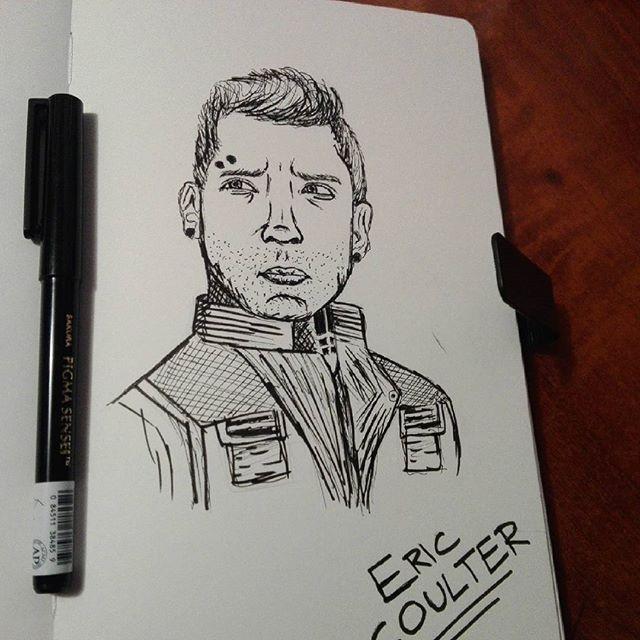 ✏ Eric Coulter Fanart — Divergent. #ericcoulter #ericdivergent #fanart #blackink #divergentmovies #jaicourtney #allegiant #books #veronicaroth #dauntless #blackandwhite #insurgentmovie #fandom #artwork #sketch