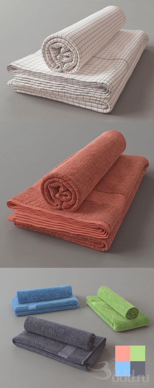 """""""PROFI"""" полотенца 3dsMax 2009 и ниже (Vray) : Декор для санузла : Файлы : 3D модели, уроки, текстуры, 3d max, Vray"""