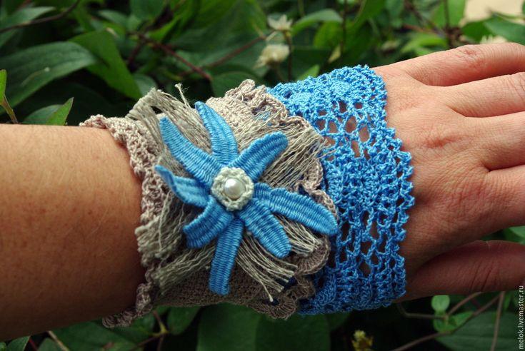 Купить Подарок на 8 марта. Вязаный браслет в стиле Бохо - вязаный браслет бохо
