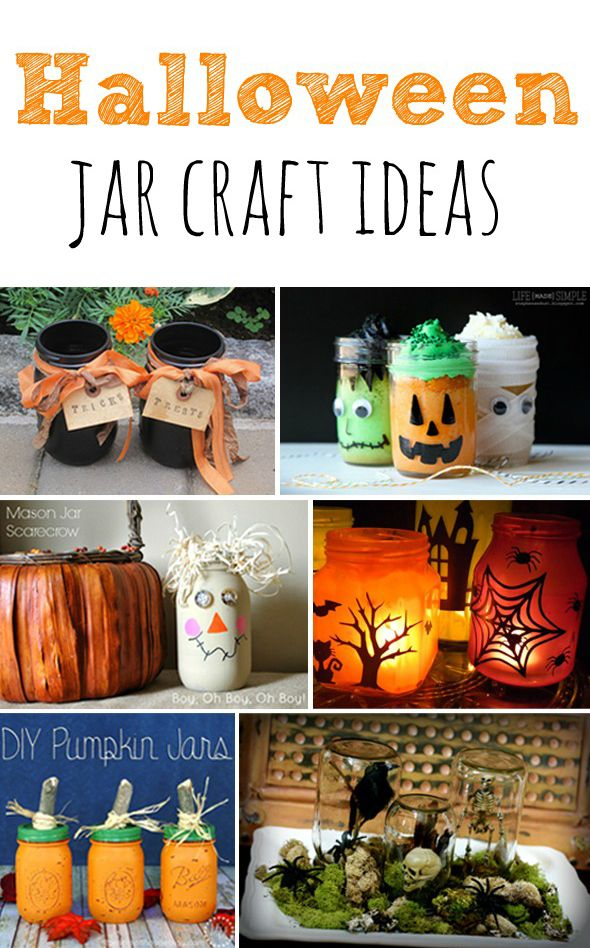 i am obsessed with mason jars and here are some super cute Halloween Jar Craft Ideas featured over at @prettymyparty