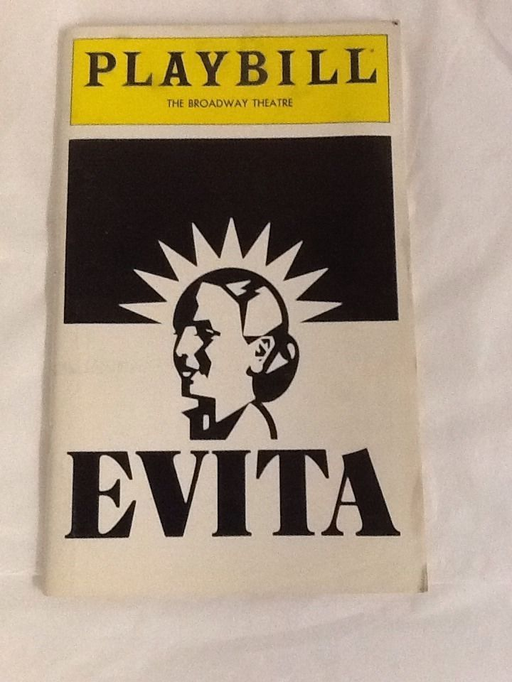 Evita Playbill Patti LuPone Mandy Patinkin Bob Gunton November 1979