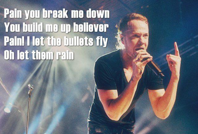 Lirik Lagu Believer - IMAGINE DRAGONS  Pain you break me down, you build me up believer Pain! I let the bullets fly Oh let them rain  Lirik selengkapnya di : http://liriklagulebih.blogspot.com/2017/02/lirik-lagu-imagine-dragons-believer.html