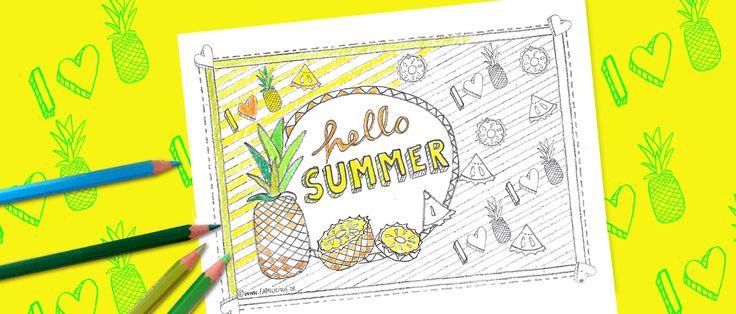 Ausmalbilder für Erwachsene sind im Trend. Denn Ausmalen entspannt. Probiert's doch mal aus! Mit unserem Ananas-Motiv als Free Printable zum Ausdrucken.