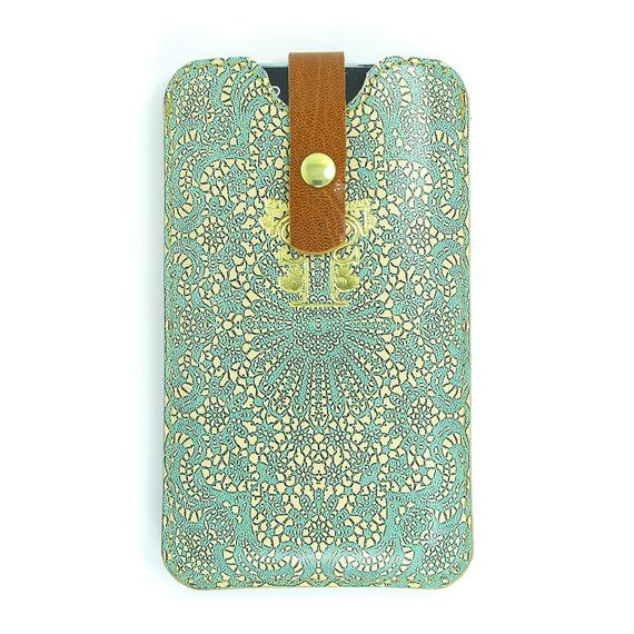 Leather iPhone 6 case/ iPhone 5s Case/ Galaxy S5 door tovicorrie