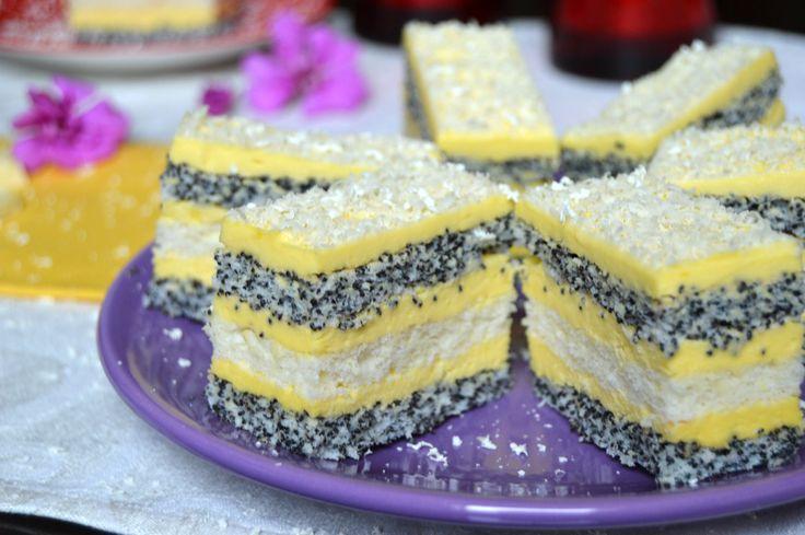Prajitura cu mac si crema de vanilie | Miremirc | ... bucataria in imagini