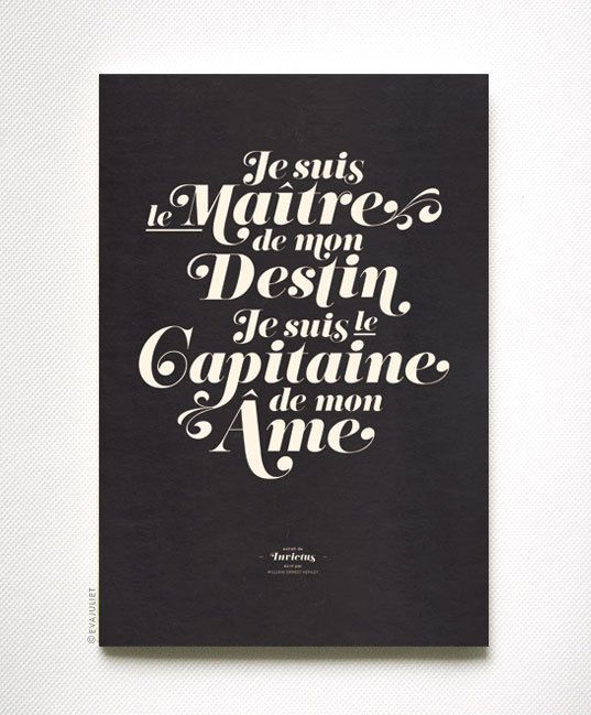 I am an owner of my destiny, I am a captain of my soulFrench Quotes In English, Vintage Typography, Heart Typography, Typography Posters, Art Prints, Graphics Design, Motivation Posters, Typography Art, Encouragement Posters