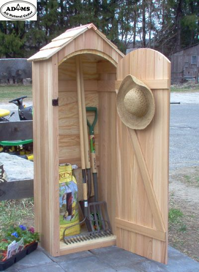 Small Garden Sheds | small cedar garden shed much better for tools just to have a cupboard