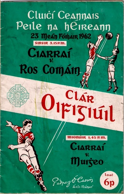 Programme for the 1962 All Ireland Football Final