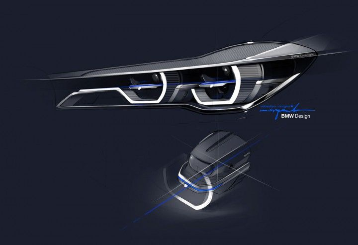BMW 7 Series Headlight Design Sketch - from the gallery: Automotive Exteriors - Headlights