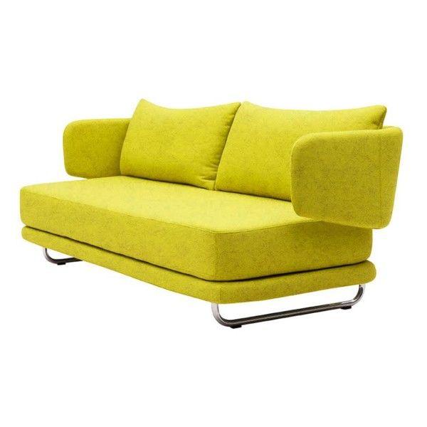 Rozkládací sedačka Jasper, zelenožlutá | Bonami