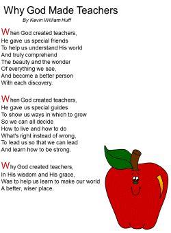 teachers poems - Google Search