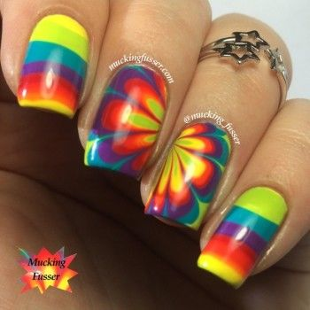 88 best water marble nail art images on pinterest water marble birthday rainbow water marble nails prinsesfo Image collections