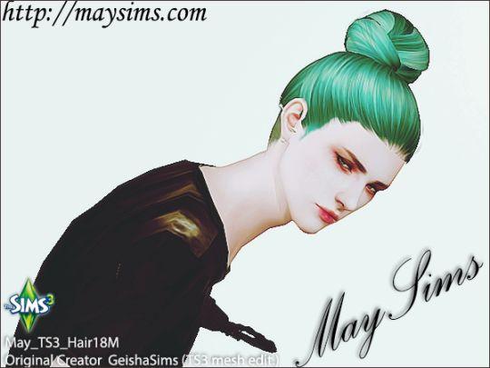 Mayims: Sims 3 Hair - May_TS3_Hair18M