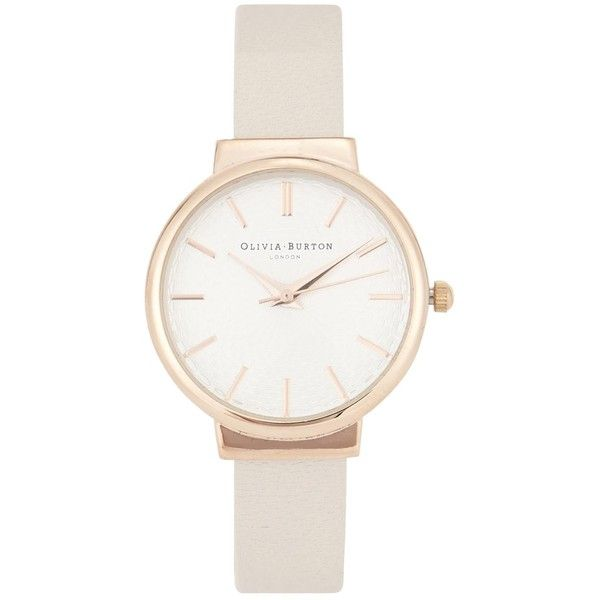 Womens Watches Olivia Burton The Hackney Rose Gold Plated Watch found on Polyvore