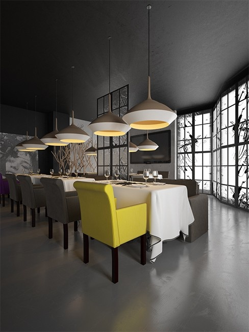 Yellow chair stole my heart.       Фото — INK restaurant — Interior design