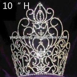 beauty pageant crown large | Beauty Tall Pageant Crowns - Buy Crystal Pageant Crowns,Large Pageant ...