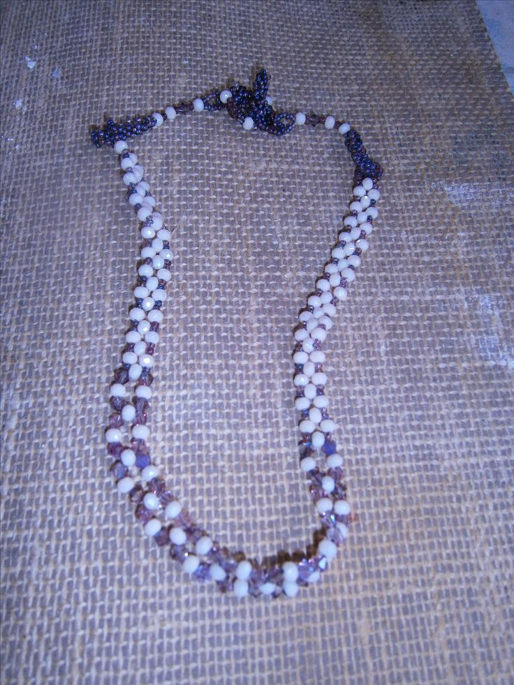 Sophiecadesigns #cream Iridescent #lilac #seedbeads #right angle #weave #peyote #toggle clasp
