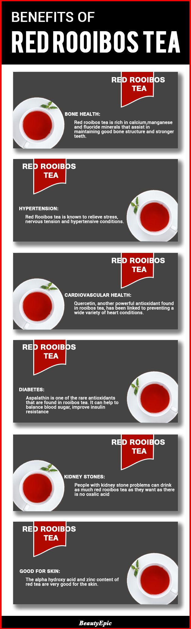 50 Health Benefits of Red Rooibos Tea