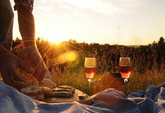 Blush. A picnic.