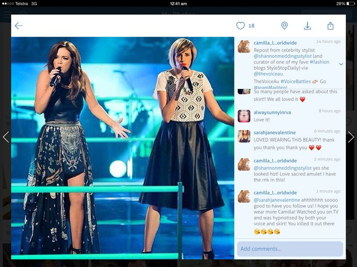 Sarah from Team Madden on 'The Voice' wearing Camilla 'Sacred Amulet' skirt......following us 'Camilla Lovers Worldwide' on Instagram xx